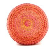 Orange Round Pillow Stock Photo