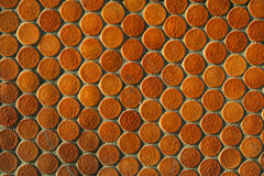 Orange round tile pattern Stock Image