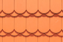 Orange rounded roof tiles Royalty Free Stock Photography