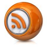 Orange rss icon Stock Photography