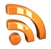 Orange rss symbol Stock Images