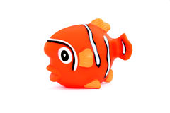 Orange rubber fish isolated on white background Royalty Free Stock Image