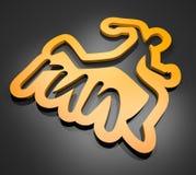 Orange run symbol Royalty Free Stock Photo