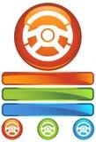 orange runt hjul för symbol royaltyfri illustrationer