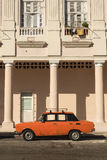 Orange russian Lada car Havana Stock Photo