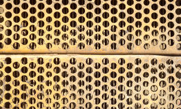 Orange Rusted Metal Ventilation Grill Stock Images