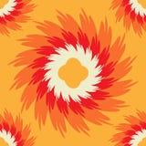 Orange sömlös modell med den utsmyckade blomman Royaltyfri Bild