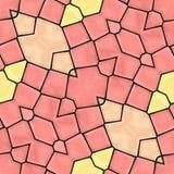 Orange sömlös mozaic bakgrund Royaltyfria Foton