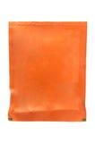 Orange sachet on white background Stock Photo