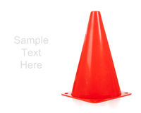 Orange safety cones on white Stock Photography