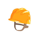 Orange safety hard hat cartoon vector Illustration Royalty Free Stock Image