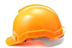 Orange safety hat Royalty Free Stock Image