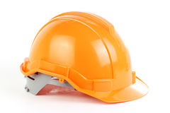 Orange safety hat Stock Image