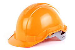 Orange safety hat Stock Images