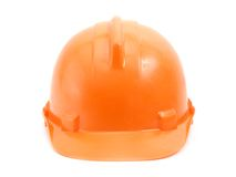 Orange safety helmet. Over white background Royalty Free Stock Photography