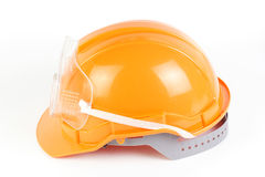 Orange Safety helmet and goggles Stock Images