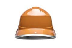 Orange safety helmet Stock Photos