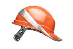 Orange safety helmet Royalty Free Stock Images