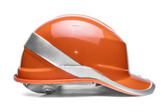 Orange safety helmet Royalty Free Stock Photo