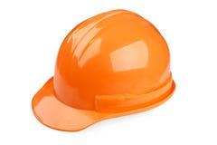 Orange safety helmet on white background Royalty Free Stock Photos