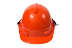 Orange safety helmet Stock Photo