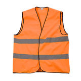 Orange safety jacket Stock Image