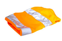 Safety vest. Orange safety vest isolated on white background Royalty Free Stock Images
