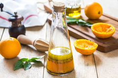 Orange salad dressing with poppy seed Royalty Free Stock Photography
