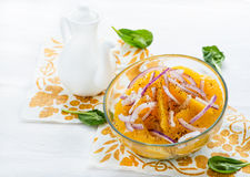 Orange salad with onion and black pepper Stock Photography