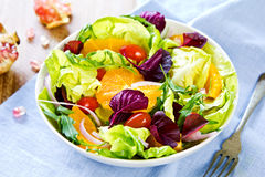 Orange Salat Stockbilder