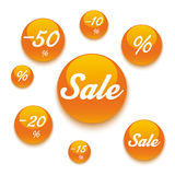 Orange Sale Buttons Royalty Free Stock Photography