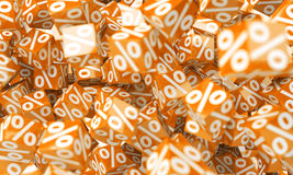 Orange sales icons floating in the air 3D rendering. Orange sales icons floating in the air on white background 3D rendering Stock Photos