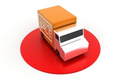 Orange Sales Truck Royalty Free Stock Photography