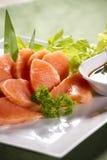 Orange salmon Stock Photos