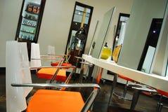 Orange Salon Mirror Station Royalty Free Stock Photos