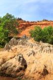 Orange sand cliffs in Fairy Stream, Vietnam royalty free stock image