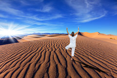 Orange sand dunes in Death Valley Stock Image