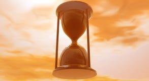 Orange Sand Glass. Abstract scenery with orange hourglass stock illustration
