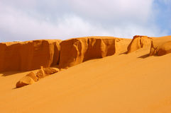 Orange sand hill Stock Images