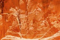Orange sandstenkanjonabstrakt begrepp välva sig nationalparken Moab Utah Arkivfoto