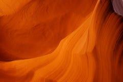 Orange sandstone background. Antelope Canyon wall structure background Stock Image
