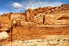 Orange sandstone cliff Royalty Free Stock Photography