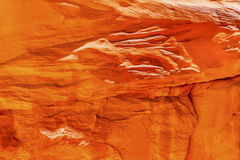 Orange Sandstone Rock Canyon Abstract Arches National Park Moab Utah Stock Image