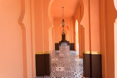 Orange sandy arabic morrocco style corridor background.  Stock Images