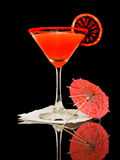 Orange sanguine Martini photographie stock