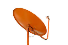Orange Satellite dish clipping path on white  background . Stock Image