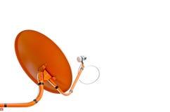 Orange Satellite Dish Royalty Free Stock Image