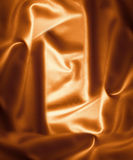 Orange satin Stock Photography