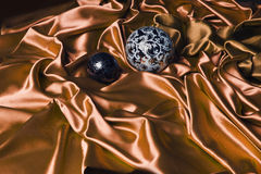 Orange satin Royalty Free Stock Photos