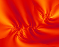 Orange Satin Fractal Design Royalty Free Stock Images